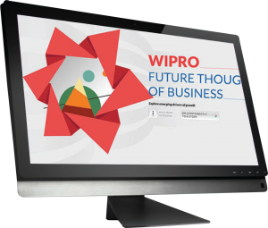 Wipro uses parallax design
